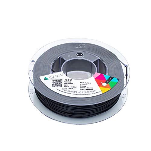 smartfil, smflx0bk0a033, filamento elastico E flessibile per stampante 3d, 1.75mm, 330G, Nero