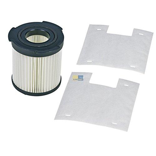 Electrolux AEG 900196614 9001966143 ORIGINAL Abluftfilter Filterzylinder Hepa Lamellenfilter + 2x Mikrofilter Menalux F100 z.T. VIVA SPIN Staubsauger Cyclone auch Tornado Miostar