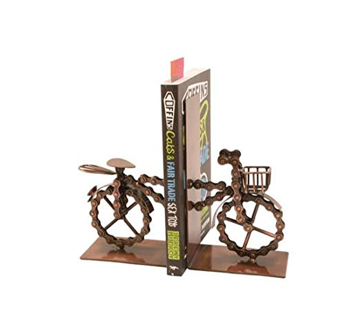 OSRAME Ornament Creative Jewelry Home Decoration Resin Craftsfairtrade Bicycle Bookends Made From Recycled Bike Chains