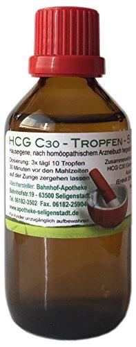 HCG C30 Tropfen - 50 ml - preiswerte Kurpackung - klassische Homöopathie - direkt aus deutscher Traditionsapotheke