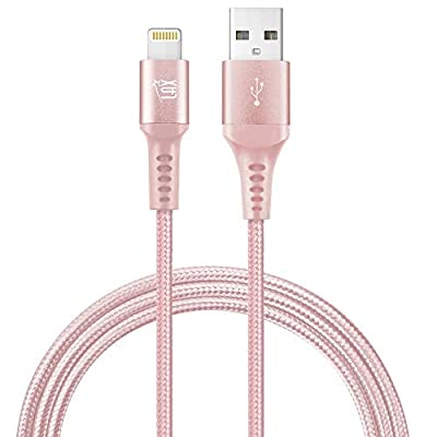 iPhone Charger Lightning Cable - [MFi Certified] Durable Braided Apple Lightning USB Cord for latest iOS including iPhone X/8/8Plus/ 7/7Plus/IPad Pro from lax gadgets inc