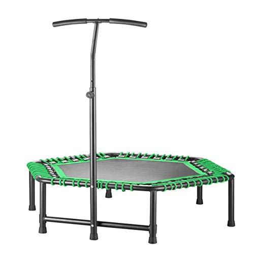 UIZSDIUZ 48''Ultra Quiet Fitness Mini trampolín con asa Regulable, Ejercicio trampolín for Adultos de los niños de Interior/Entrenamiento Jardín