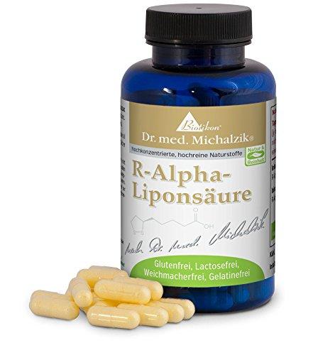 R-Alpha-Liponsäure nach Dr. med. Michalzik, wichtige körpereigene Substanz, 200 mg reine R-Alpha-Liponsäure je Kapsel - ohne Zusatzstoffe, 120 vegane Kapseln