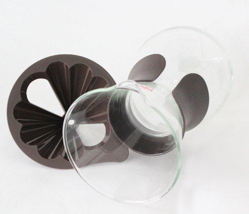 iwaki 耐熱ガラス ドリップサーバー ブラウン 600ml K8694-BR