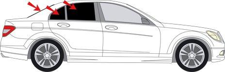 Sonnenschutz-Scheiben für Mercedes W204 Bj. 2007-14 Auto-Sonnenschutz Sichtschutz