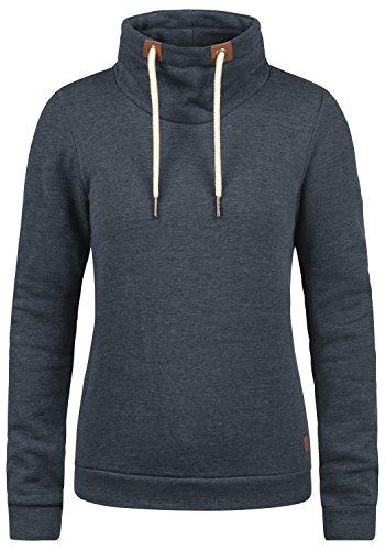 DESIRES Vicky Tube Damen Sweatshirt Pullover Sweater Mit Stehkragen Und Fleece-Innenseite, Größe:XL, Farbe:Insignia Blue Melange (8991)