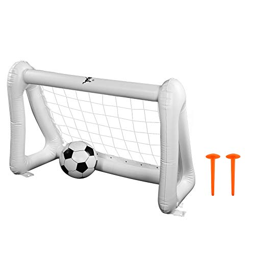 Sportmall Inflatable Football Nets,Children Indoor Outdoor Inflatable Soccer Game Shooting Practice Goal Net Toys Set Kids