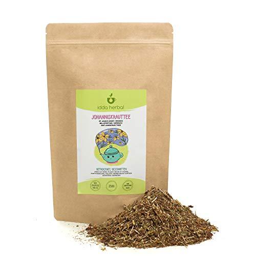 Hipérico (250g), Infusión de Hipérico Té de hierba de San Juan, secado suavemente, cortado, 100% puro y natural