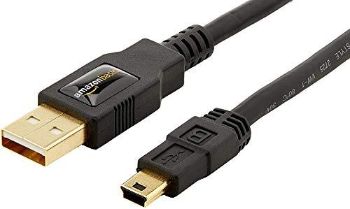 Amazon Basics USB 2.0 A-Male to Mini-B Cable 1.8 m / 6 Feet