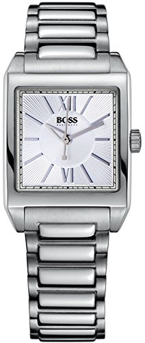 Hugo Boss Women's Quartz Watch with Silver Dial Analogue Display and Silver Steel Strap 1502234