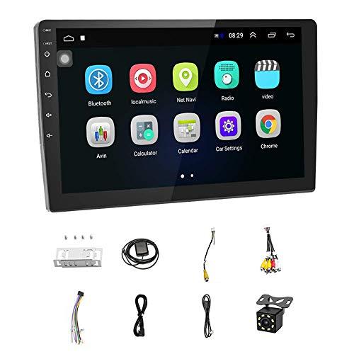 ZALAGA EstéReo para AutomóVil Doble DIN Android NavegacióN 10.1Pulgadas Pantalla Prensa HD en Tablero con GPS WiFi Radio FM Soporte Enlace Espejo,CáMara VisióN Trasera/USB Dual