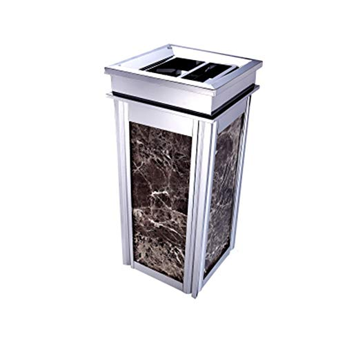 Best Prices! Kitchen Waste Bins Stainless Steel Trash Can Vertical Garbage Cans Gold Garbage Contain...