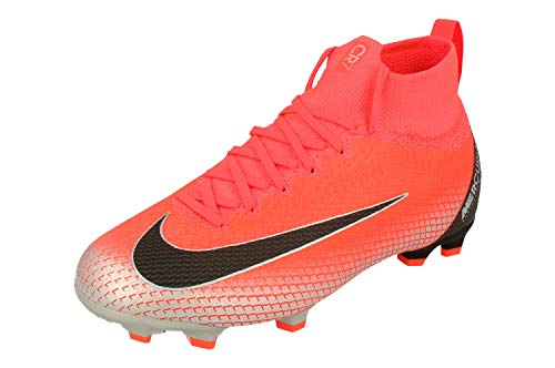 Nike Unisex Adults Mercurial Superfly 6 Elite FG Soccer Cleats, Flash Crimson/Chrome/Dark Grey/Black, US 4Y