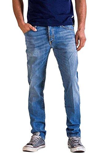 Meltin'Pot - Jeans Melton D0143-UK551 per Uomo, Modello Dritto, vestibilità Normale, Vita Regular, con 5 Tasche