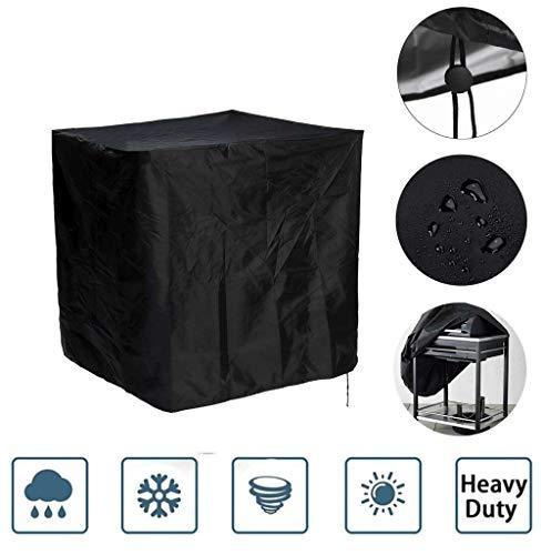 ANHPI--tarpaulins Housse de Grill BBQ Protection couvertures Square Meubles Couvercle de Protection étanche à la poussière Imperméable Couverture en Tissu (Color : Black, Size : 68 * 68 * 120cm)