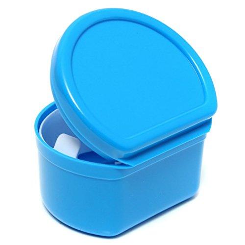 Ungfu Mall Plastic Dental Denture protège-bouches Conteneur de rangement Case Box Orthodontique (Bleu)