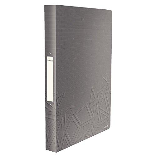 Leitz, Ringbuch, Für bis zu 140 Blatt A4, 2,6 cm Rückenbreite, PP, Dunkelgrau, Urban Chic, 42610089