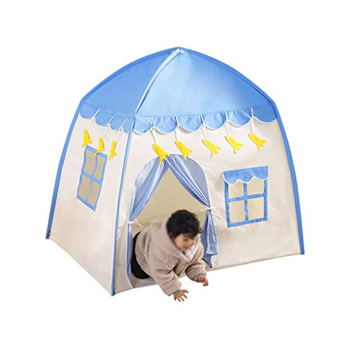 Tent Toy House, Holiday Rusten Game Tent Blue Game House Foto Studio Tent Props Girls' of Boys'Tent (Color : Blue, Size : 130 * 100 * 130cm)