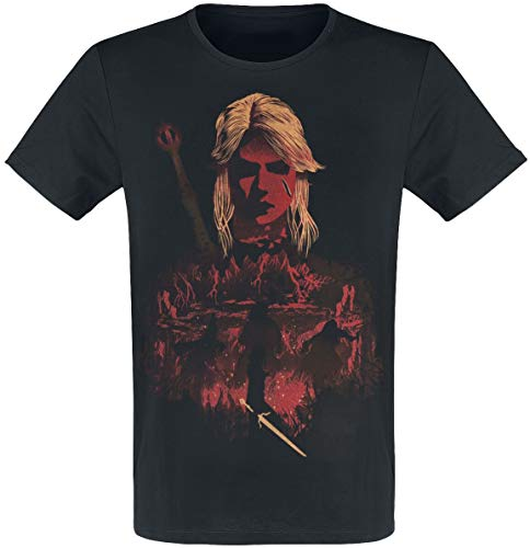 The Witcher Ciri and Crones Männer T-Shirt schwarz XL 100% Baumwolle Fan-Merch,...