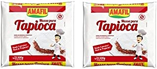 Amafil Tapioca Flour 500g (17.6oz) Massa Para Tapioca (2 Pack)