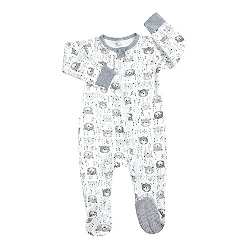 H.eternal(TM) Pijama para recién nacido, con diseño de dibujos animados, con cremallera frontal, antideslizante, para dormir