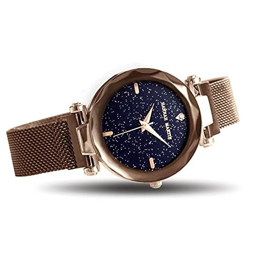 YDHNB Relojes para Mujeres Lujo de la Manera Reloj Impermeable Reloj Acero Inoxidable Negocio Casual Reloj de Cuarzo para Mujeres Mujer