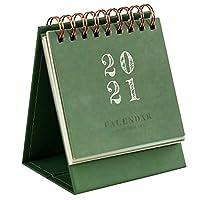 卓上カレンダーデュアルデイリースケジュール表プランナー年間アジェンダ主催のOffice 2020から2021ミニ卓上カレンダー卓上カレンダー (Color : Dark Green, Number of Cells : 10x8.3x6.5cm)