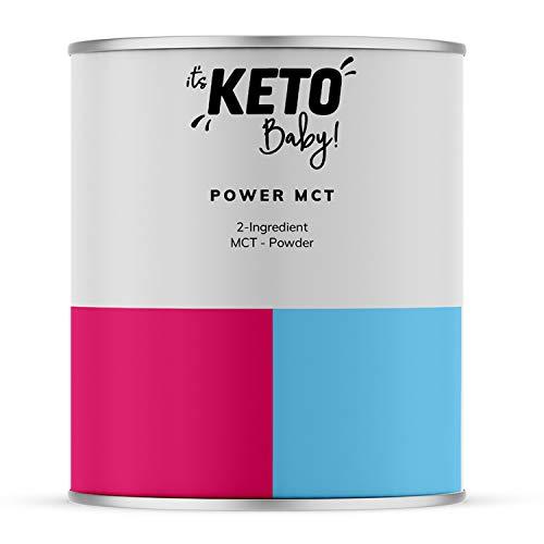 it's KETO Baby! Power MCT | MCT Öl Pulver aus 70% Kokos und 30% Akazienfasern | C8-C10 60/40 | Vegan und frei von künstlichen Zusatzstoffen | Geeignet für Keto Diät & Coffee | Ballaststoffe | 250g