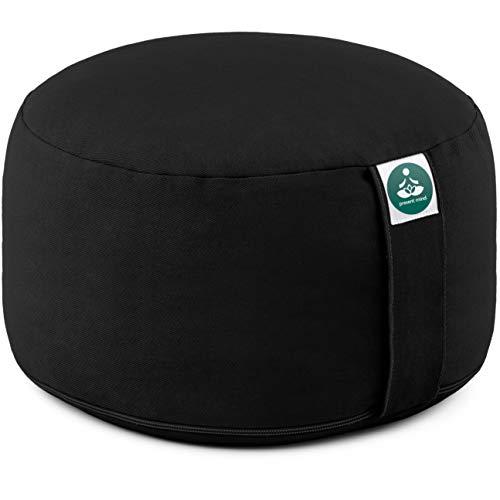 Present Mind Yogakissen Meditationskissen Extra Hoch - Sitzhöhe 20 cm - Waschbarer Bezug aus Baumwolle - Hergestellt in der EU