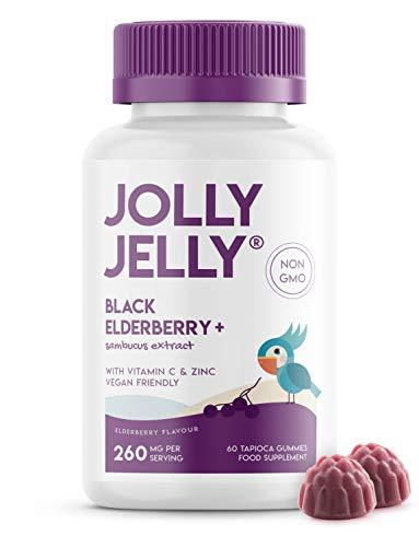 Black Elderberry Extract Gummies - 1500mg Equivalent - Immune Support Wild European Sambucus Extract 10:1-60 Vegan Gummies. 1 Pack