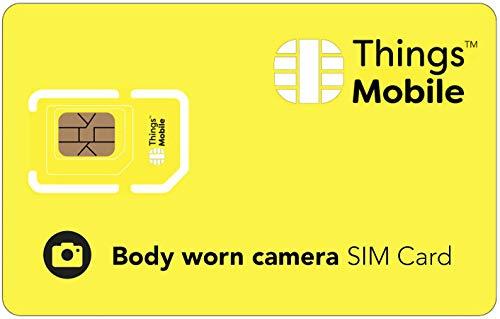 IOT/M2M karta SIM do BODY WORM CAMERA- Things Mobile - Things Mobile - światowe pokrycie sieci, sieć wielodostawców GSM/2G/3G/4G, bez kosztów stałych.