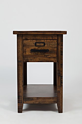 Jofran: , Cannon Valley, Chairside Table, 16'W X 24'D X 25'H, Cannon Valley Finish, (Set of 1)
