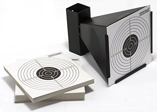 Nitehawk 14cm Steel Air Rifle/Airsoft Pistol Shooting Funnel Target Holder/Pellet Trap + 100 targets