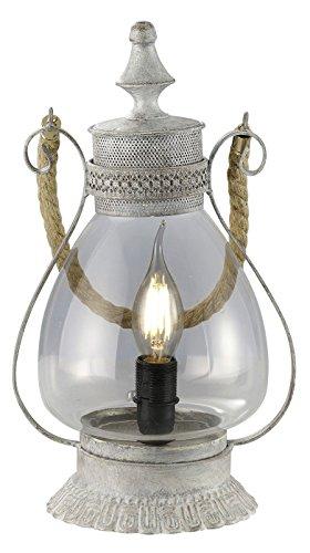 Trio Leuchten LED Tischleuchte Linda 503500161, Metall grau antik, exkl. 1x E14