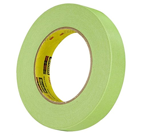 "3M 26334 Crl 3/4"" x 55m Automotive Performance Paint 233+ Masking Tape, Green"