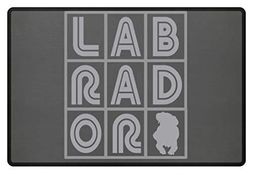 generisch Labrador - Kreuzworträtsel - Fußmatte -60x40cm-Mausgrau