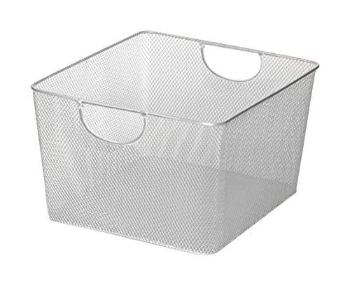 YBM HOME Household Wire Mesh Open Bin Shelf Storage Basket Organizer for Kitchen, Cabinet, Fruits, Vegetables, Pantry Items Toys 199se (1, 10 x 9 x 6)