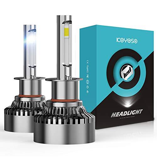 KOYOSO Ampoules H1 LED 20000LM 120W pour 12V Automobiles, 6000K Blanc