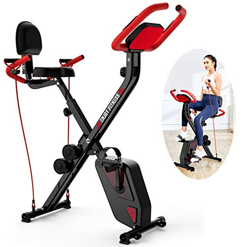 Hometrainer Met Koord, Folding Aerobic Fitness Machine Indoor Hometrainer Met LCD-Scherm Afvallen Fitness Equipment Verstelbare Stoel