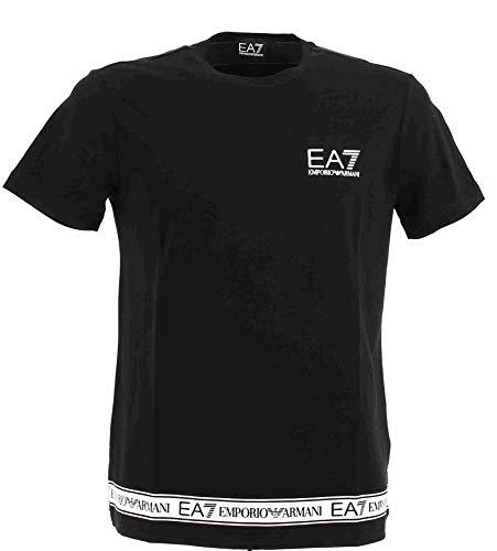 Armani EA7 - Emporio Camiseta Hombre - XXL, Negro