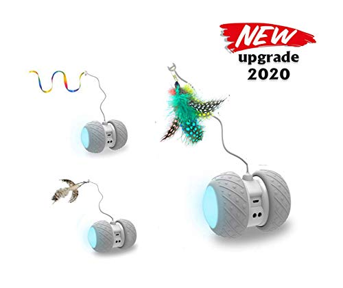 PetDroid Boltz Robotic Cat Toy Interactive,Attached with Feathers/Birds/Mouse...