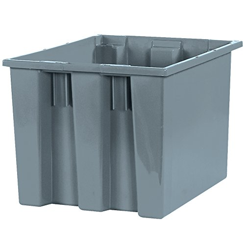 Why Should You Buy Stack & Nest Containers, 17 x 14 1/2 x 12 7/8, Gray, 6/Case