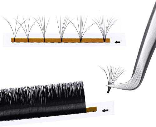 Ouumeis Eyelash extension, Lashes Volume Fans 0.10mm C Curl 8-12mm Individual,Cluster Lashes for Salon and Lash Artist Volume,Self Fanning Lashes Automatic Blooming 3D,10mm