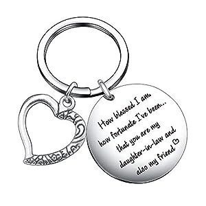 Daughter-in-Law Appreciation Gift, Keychain for Bonus Daughter Birthday Christmas Wedding Day