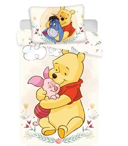 クマのプーさん ディズニー ベビー ベッドカバー シーツ 布団カバー & 枕カバー セット リバーシブル キャラクター Disney Winnie the pooh yellow [並行輸入品]