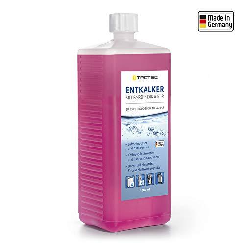 TROTEC 1000ml qualitativer Flüssig-Entkalker mit praktischem Farbindikator für Luftentfeuchter, Luftbefeuchter, Klimageräte, Kaffeevollautomaten