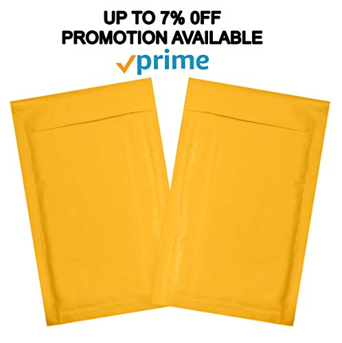 25 Pack Yellow Kraft Padded Envelopes 5x9 Bubble Mailers 5 x 9. Gold Kraft bubble envelopes Peel and Seal. Cushion envelopes for mailing, packing, packaging. Shipping mailers in bulk, wholesale.BPNatu Photo #6
