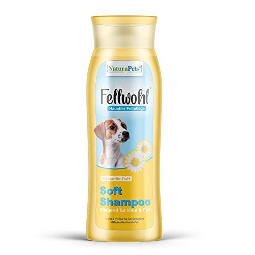 NaturaPets Hundeshampoo mit Kamille-Duft (1x300ml) Hunde Shampoo Glanz Fellpflege