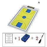 IYBY Gerade Doppelseitige Basketball-Taktik-Brett-Trainer-Brett - Wiederbeschreibbar - Stark Magnetisch - Einfach Zu Tragen Und Wiederzuverwenden -
