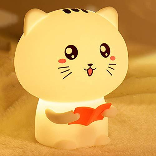 Lampe De Table De Chevet De Chambre À Coucher De Nuit De Bébé De Lumière De Nuit De Silicone De Kitty Pat-Poudre